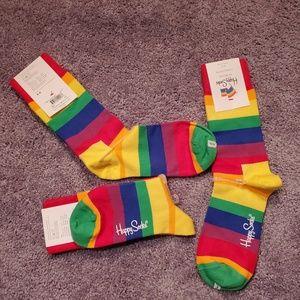 3for$25 happy socks rainbow stripes gay pride
